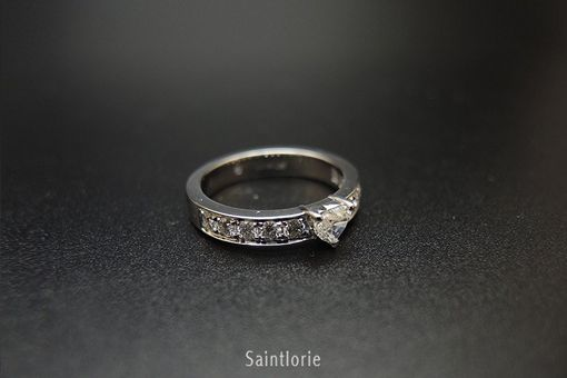 Custom Made 0.3 Carat Heart Cut Diamond Engagement Ring