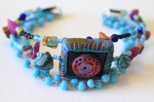 Custom Made Friendship Bracelet, Hand Painted, Stack Bracelets, Seed Beads, Stone Chips, Bead, Polymer Clay