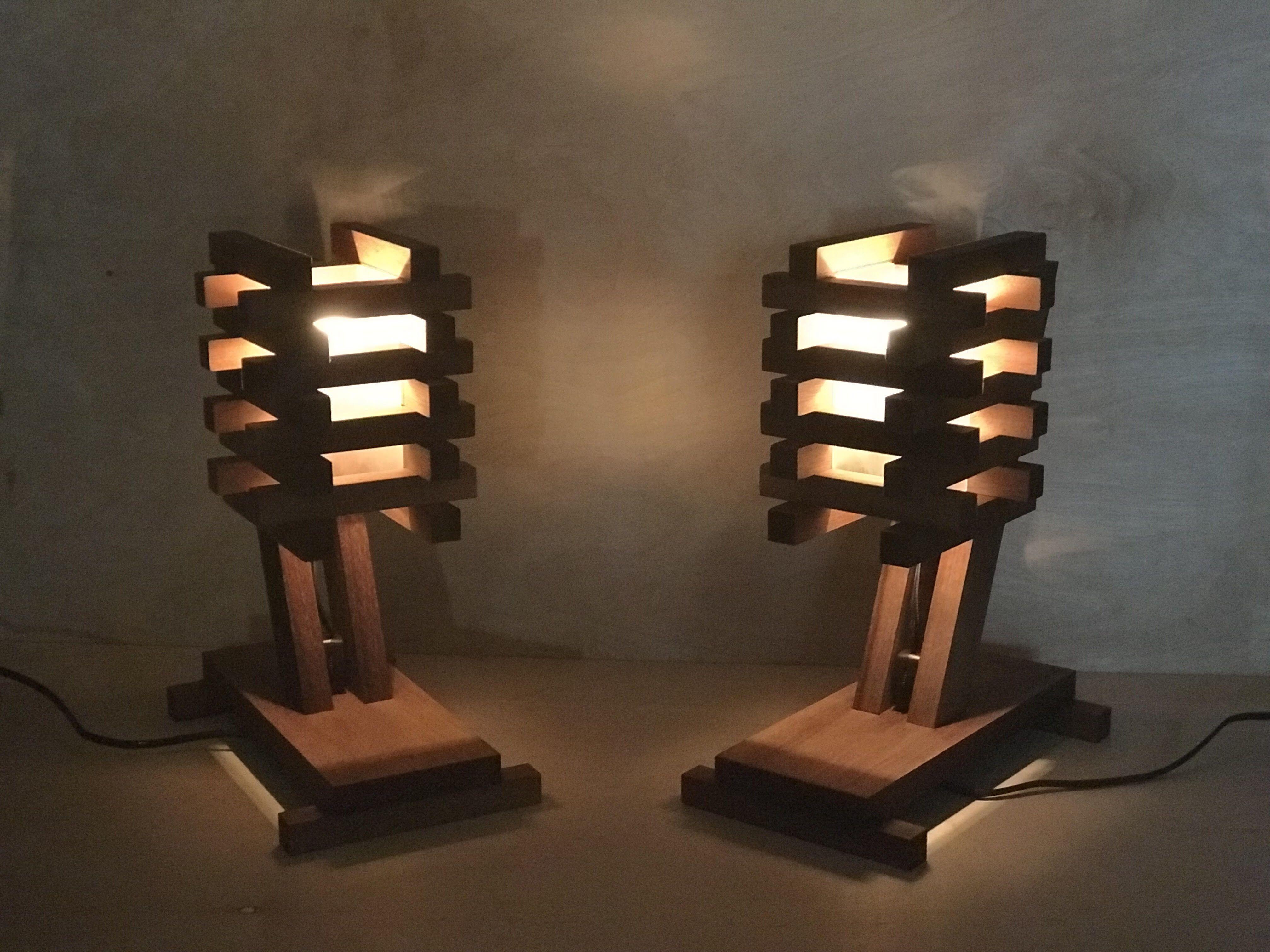 Custom Made Woodwarmth Minimalist Walnut Desk Lamp By Bear