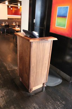 Custom Made Live Edge Restaurant Podium
