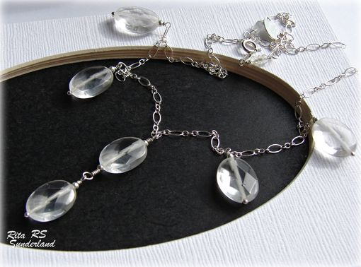 Custom Made Sterling Silver Rock Crystal Necklace