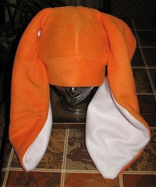 "Custom Made Orange 20""Ears Long Bunny,Kangaroo,Dog,Donkey Fleece Winter Warm Hat In 6 Sizes"