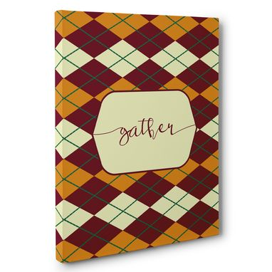 Custom Made Argyle Fall Gather Home Decor Canvas Wall Art