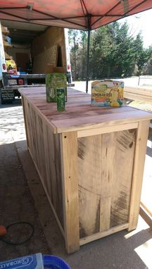 Custom Made Barnwood Bar Cabinet