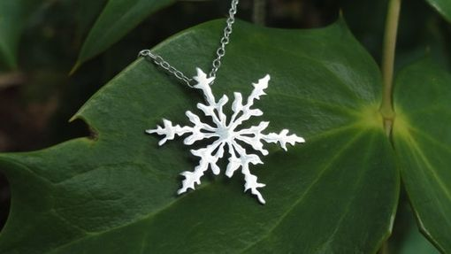 Custom Made Sterling Silver Snowflake Pendant