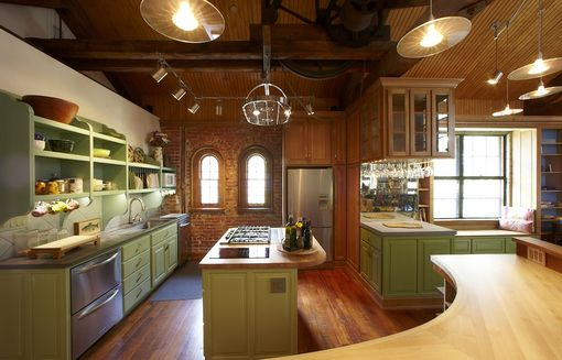 Custom Made Philadelphia Carriage House Kitchen