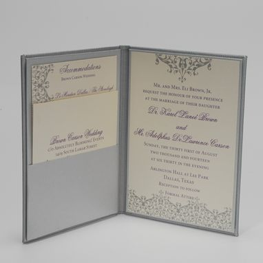 Custom Made Custom Wedding Invitation Envelope/Book