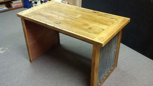 Custom Made Reclaimed Lumber & Metal Writing Desk