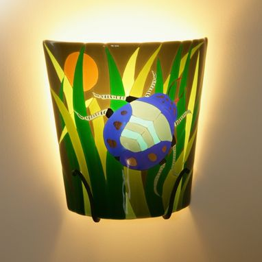 Custom Made Sconce Light - Fused Glass