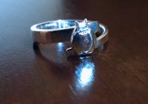Custom Made My Neighbor Totoro Ring In Sterling Silver
