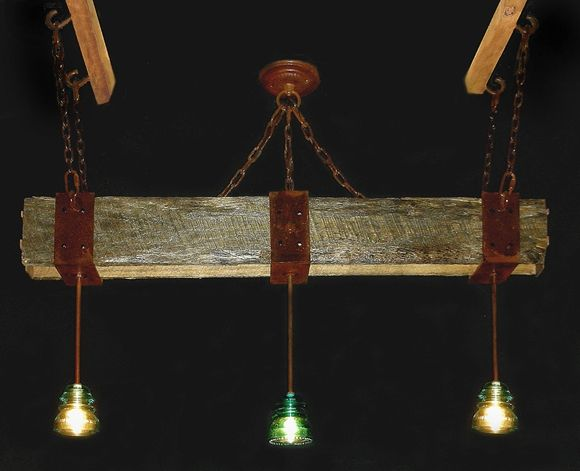Handmade Antique Glass Insulator Chandeliers By Southwest