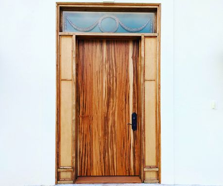 Custom Made Tigerwood - Exotic Wood Front Doors