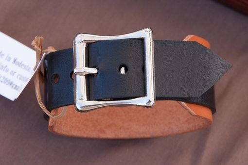 Custom Made Leather Cuff Bracelets Cross Christian
