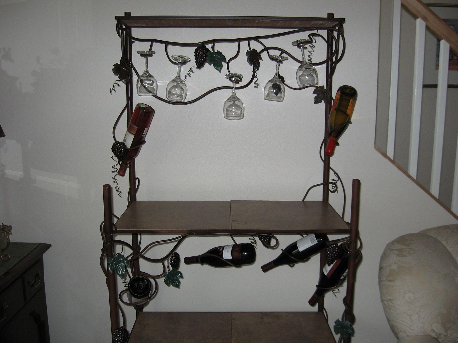 Bakers rack decorating ideas - Custom Made Bakers Rack Wine Rack