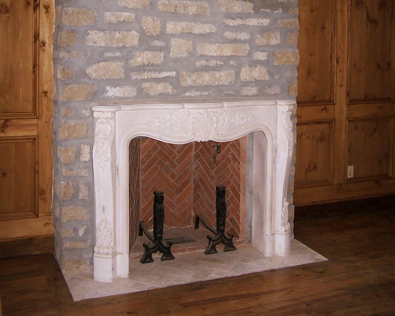 hand made 2 herringbone rumford fireplaces in home by stone creek
