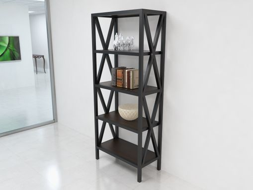 Custom Made Large X Bookcase