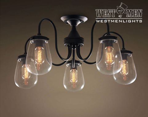Custom Made Westmenlights Glass Iron Large Chandeliers Light Fixture