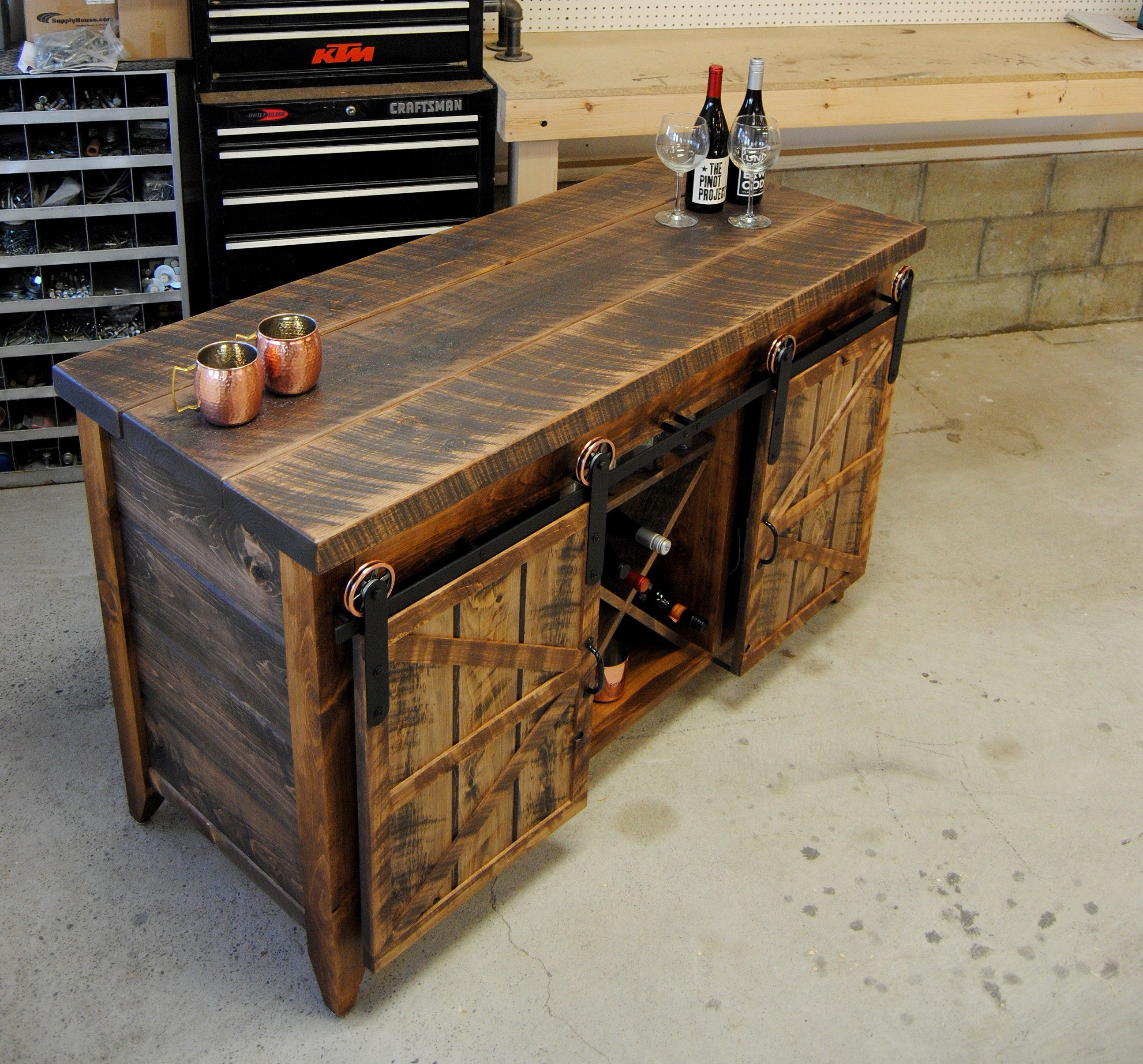 buffet table with storage Buy a Custom Wine Storage Dry Bar  Buffet Table  Serving Table  buffet table with storage