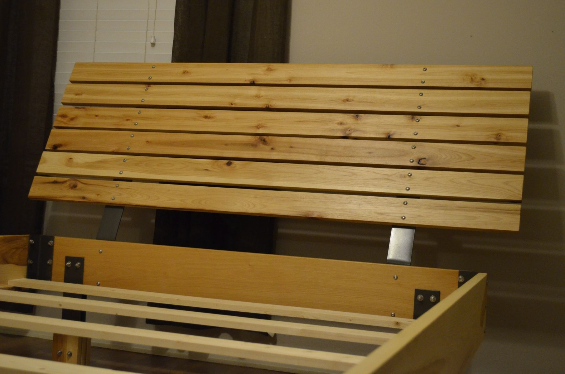 custom made hickory bed frame and hickory headboard - Custom Bed Frames