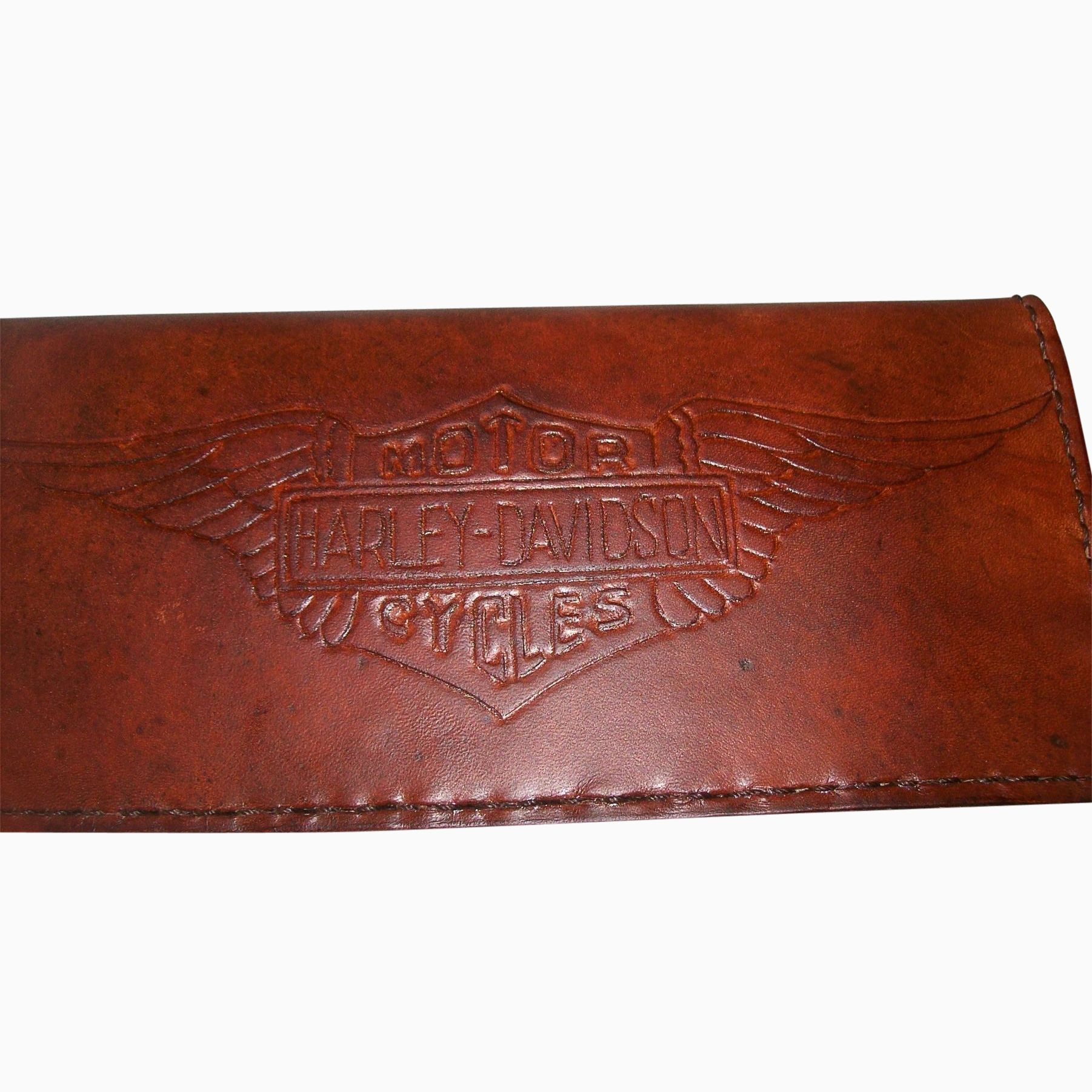 Buy a Hand Crafted Handcrafted Leather Harley Davidson Biker Wallet ...
