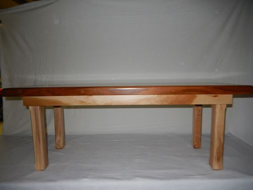 Custom Made Hand Crafted Mixed Hardwood Bench