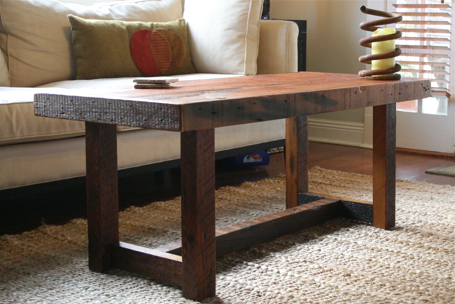 Hand Crafted The Rustic Pi Coffee Table Made From New Orleans