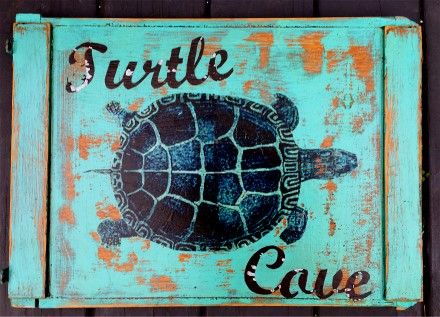 Custom Made Turtle Cove Sign