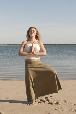 Custom Made Maxi Foldover/Yoga Skirt In Organic Cotton Or Bamboo