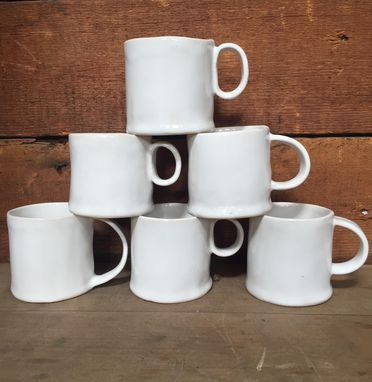 Custom Made Set Of 6 Stoneware Mugs, Holiday Cups, Coffee, Tea Cups,