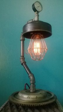 Custom Made Upcycled Automotive Parts Lamp