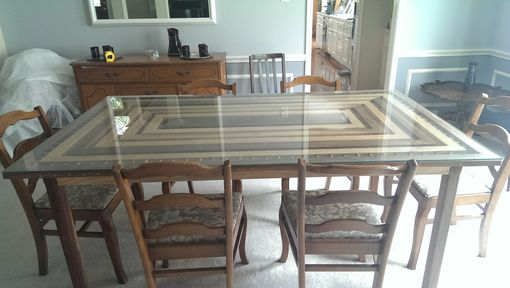 Custom Made Beautiful Handcrafted Walnut And Ash Dinning Table