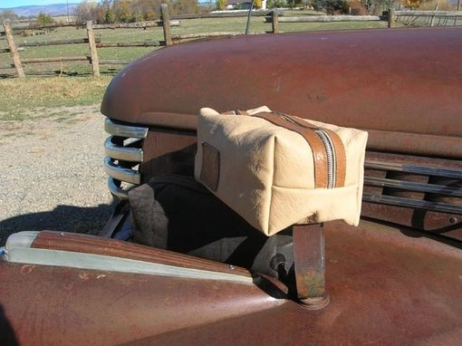 Custom Made Man's Leather Dopp Kit/Shaving Kit