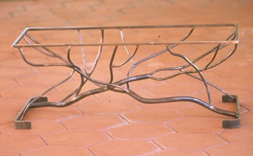 Custom Made Table, Coffee - Crossed Branches - 1991