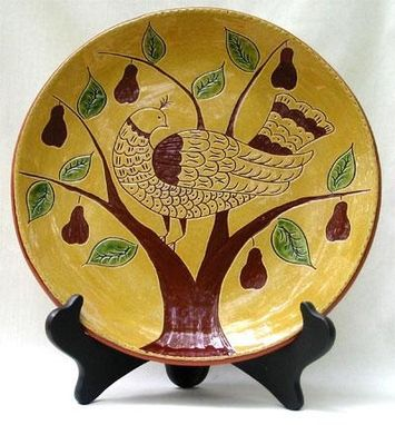 "Custom Made ""Partridge In A Pear Tree""  Ceramic Plate"