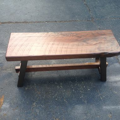 Custom Made Industrial Rustic Bench