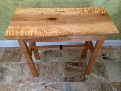 Custom Made Tiger Maple Live Edge Table