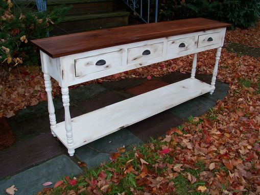 Custom Made Reclaimed Distressed Console Table