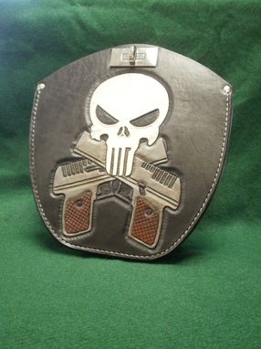 Custom Made Leather Gun Holster For My Harley Fatboy