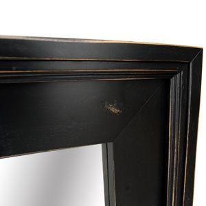 Custom Made Black Wood Wall Mirror, Alpine Series Overmantle Mirror