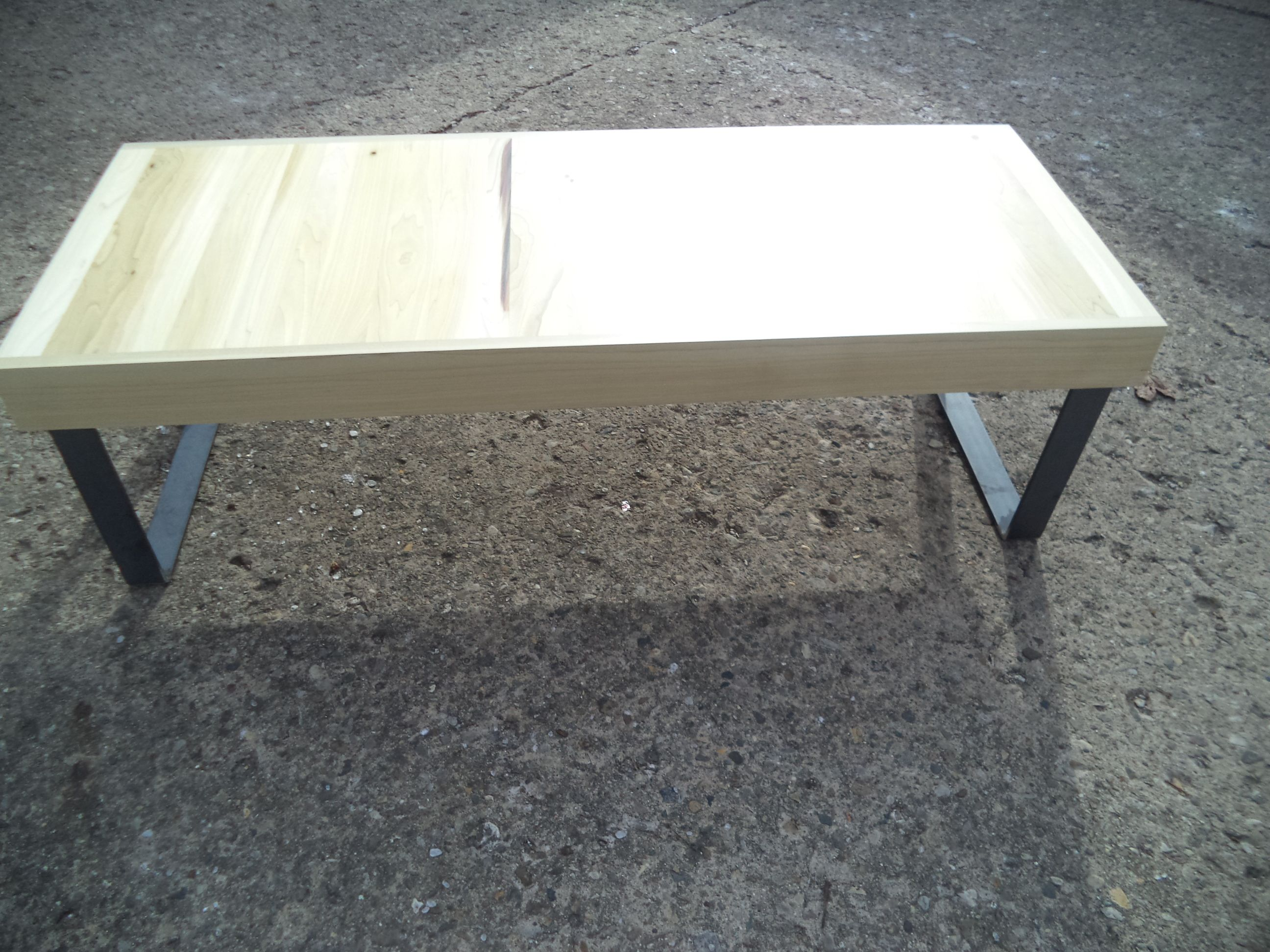A Custom Coffee Table Made From Reclaimed Poplar And