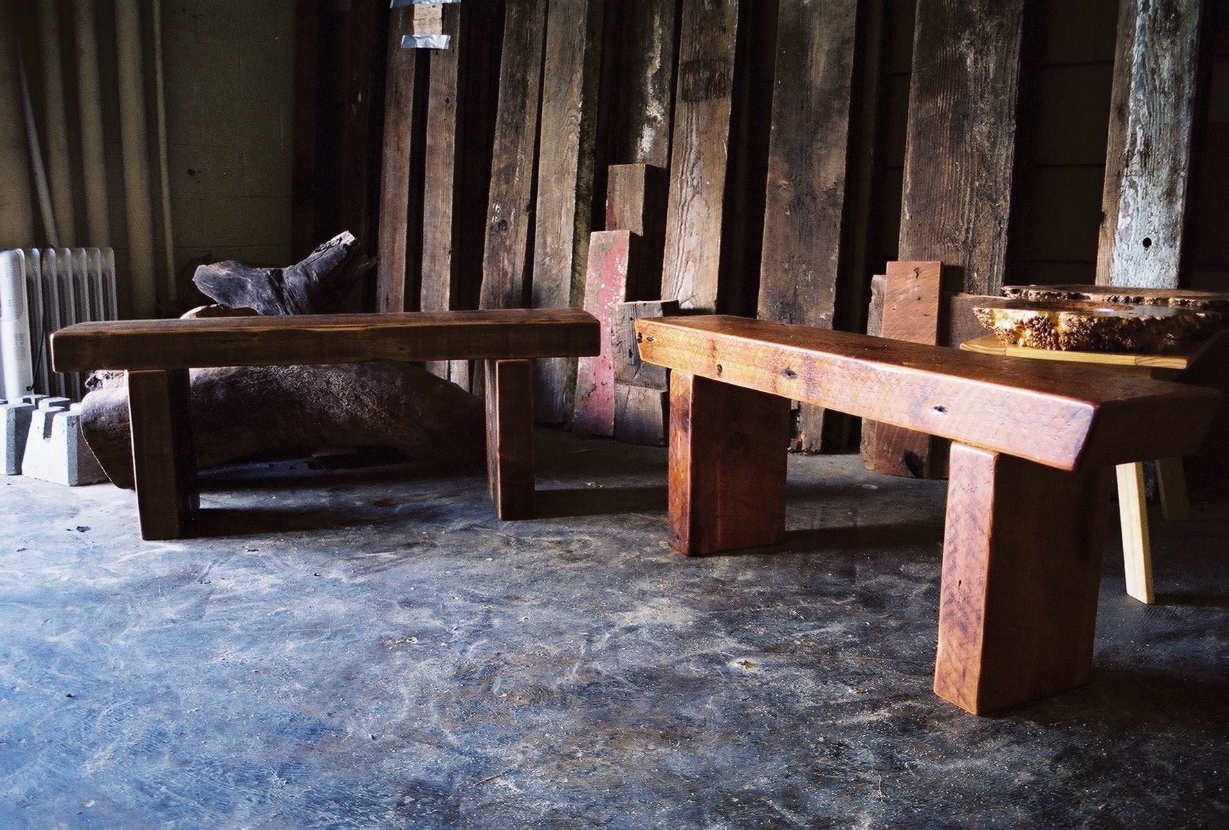 Hand Made Timber Frame Beam Bench By Jonathan January