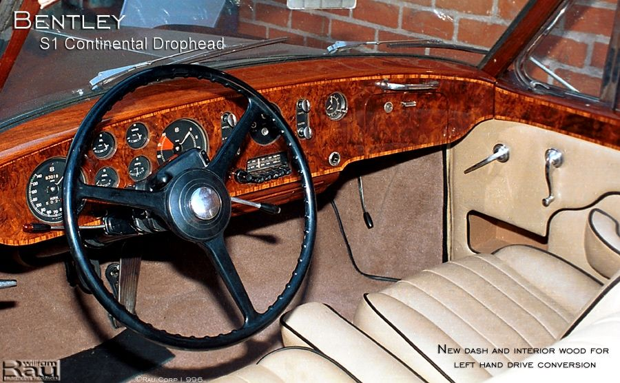 handmade bentley s1drophead new wood dash by rau automotive woodwork. Black Bedroom Furniture Sets. Home Design Ideas