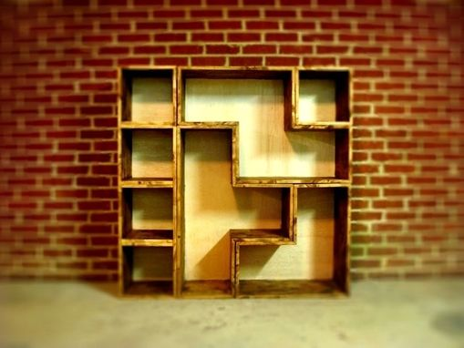 Custom Made Tetris Bookcase