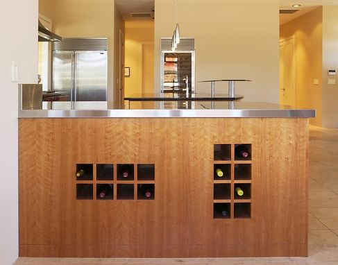 Custom Made Modern Cherry Kitchen In Wine Country
