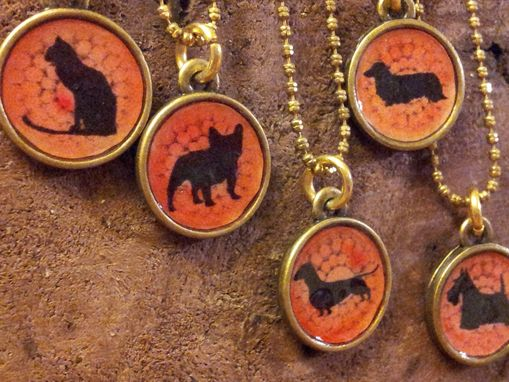 Custom Made Dog Breed Or Cat Silhouette Pendant