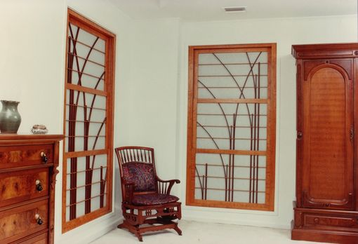 Custom Made Vertically Adjustable Shoji Window Panels