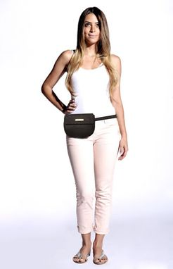 Custom Made Custom Leather Fanny Pack Or Belt Bag