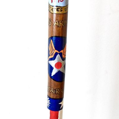 Custom Made Military Customized Hand Painted Walking Stick