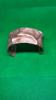 Custom Made 32mm Air Chased Copper Cuff Bracelet
