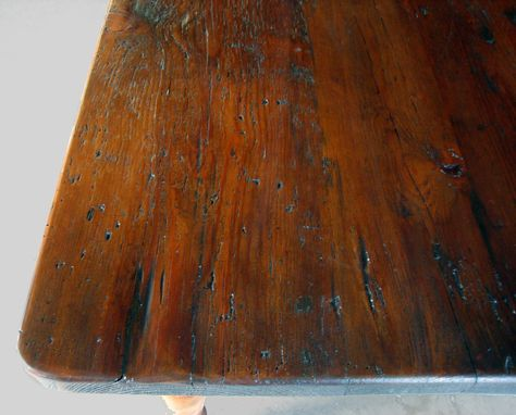 Custom Made Very Rustic Antique Walnut Dining Table